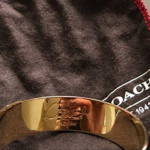 Coach Jewelry - Coach green/gold metal bangle